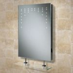 Hib Rain LED Bathroom Mirror with Shaver Socket and Glass Shelf